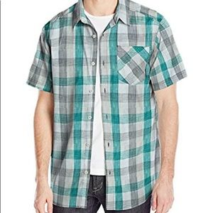 Columbia Mens Button Up Plaid Shirt Small